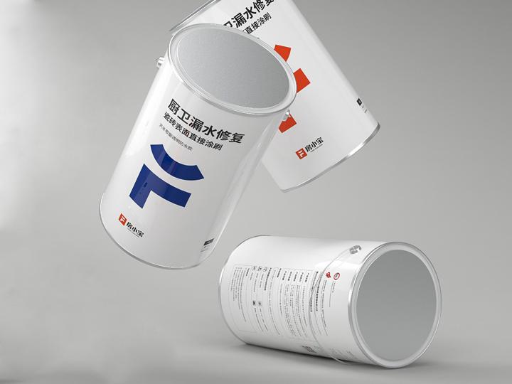 房小宝防水涂料品牌包装设计